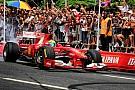 Massa dà spettacolo a Rio con la Ferrari F10