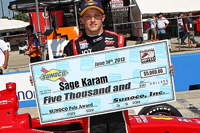 Sage Karam in pole position a Milwaukee
