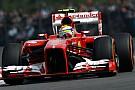 La Ferrari in pista con Rigon e Massa a Silverstone