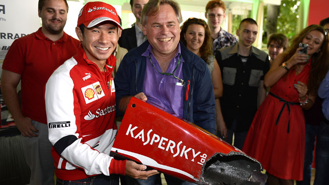 Kobayashi dona il muso rotto a Mosca a Kaspersky