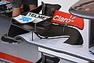 Sull'ala della Sauber c'è un piccolo turbolatore