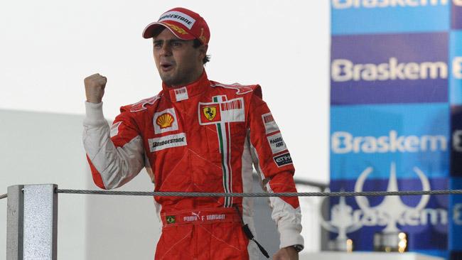 E' l'ora dei saluti per Massa alle Finali Mondiali Ferrari
