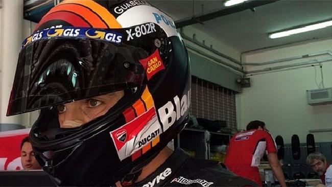 Michele Pirro soddisfatto dei tempi di oggi a Sepang