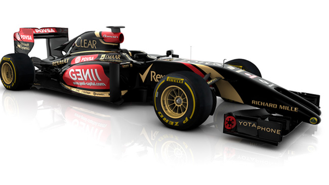 La Lotus E22 in pista venerdì a Jerez