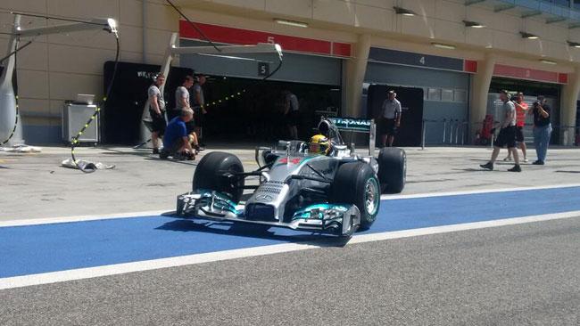 Bahrein, Day 4 (Ore 13): finalmente in pista Hamilton