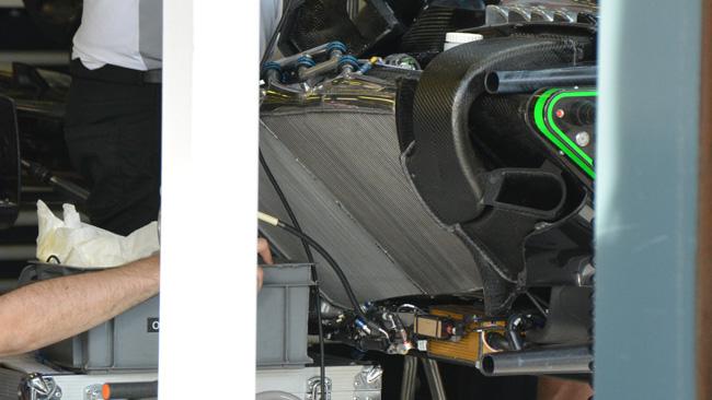 McLaren: i radiatori sono inclinati indietro