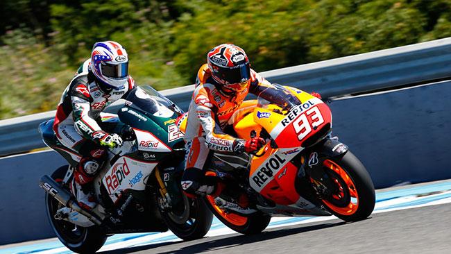 Jerez, Libere 4: Marquez tallonato dalle due Yamaha