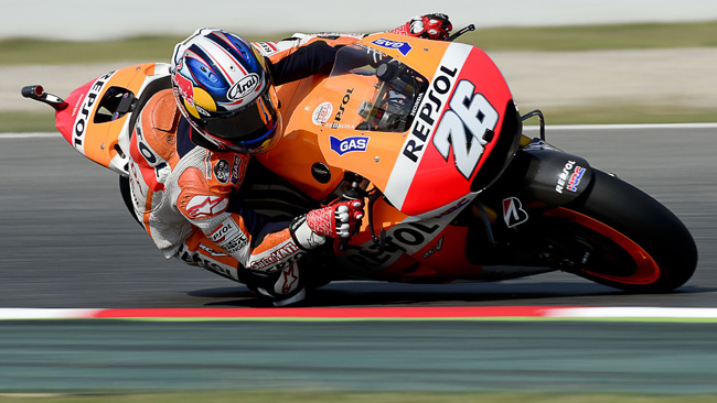 Barcellona, Warm Up: Pedrosa al top, Valentino scivola