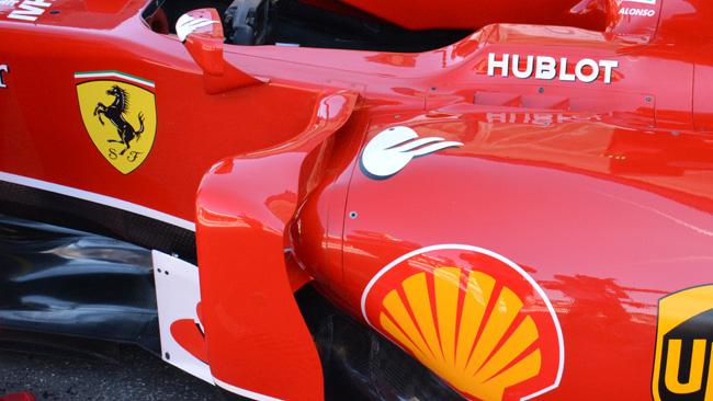 Ferrari con il deviatore di flusso a ponte rialzato