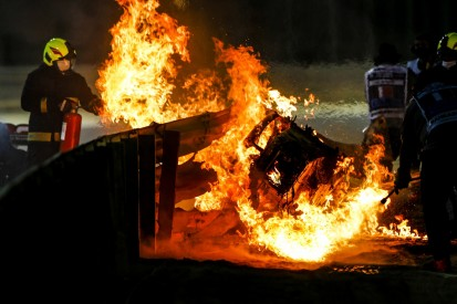 Grosjeans Feuerunfall in Bahrain: Was wäre ohne Leitplanke passiert?