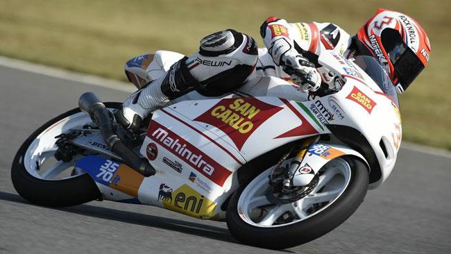 Matteo Ferrari in ottava fila a causa di una caduta