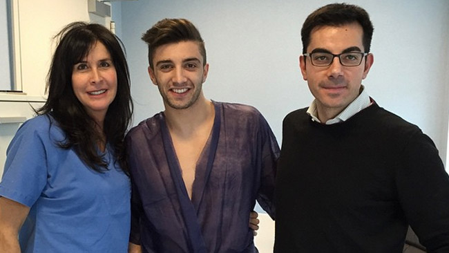 Andrea Iannone operato in day hospital a Parma