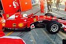 Vettel subito in pista con la Ferrari SF15-T