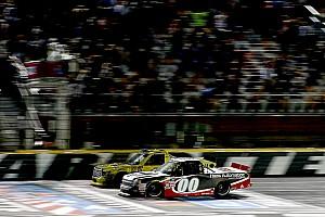 NASCAR Truck Race report Kahne edges Jones in thrilling photo finish