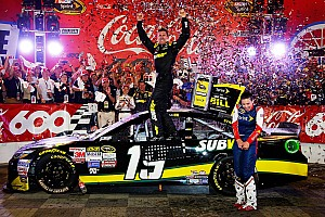 NASCAR Cup Race report Edwards earns first victory with JGR in 600-miler at Charlotte
