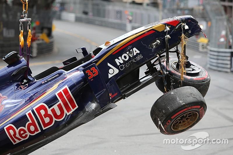 "Verstappen puts ""biggest career crash"" behind him"