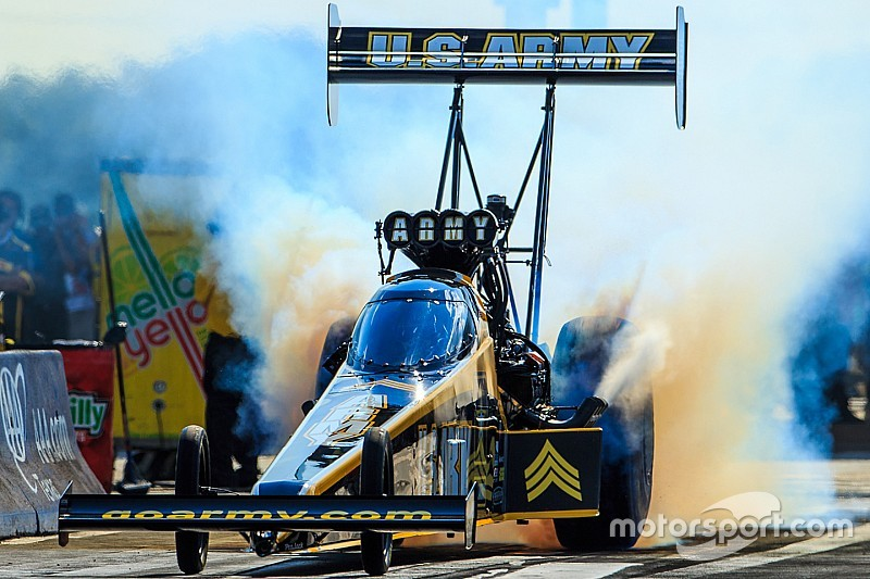 Schumacher, Johnson Jr. and McGaha top qualifying leaderboard Friday at NHRA New England Nationals