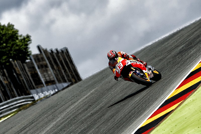 Sachsenring MotoGP: Marquez scorches to pole, Rossi down in sixth