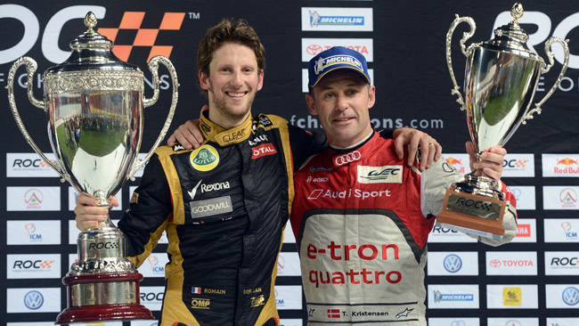 Grosjean e Kristensen al via della Race of Champions