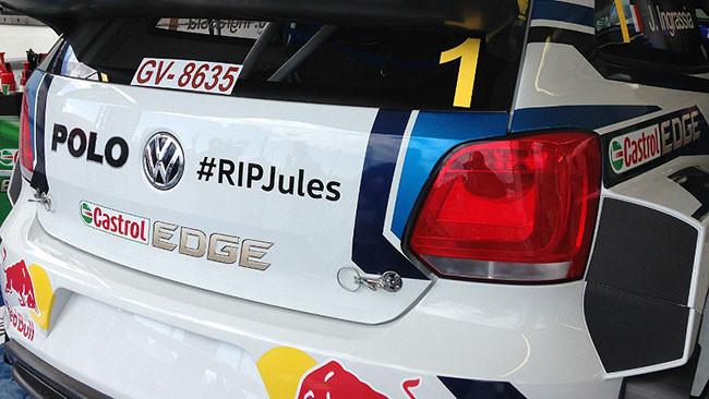 Sébastien Ogier rende omaggio a Jules Bianchi
