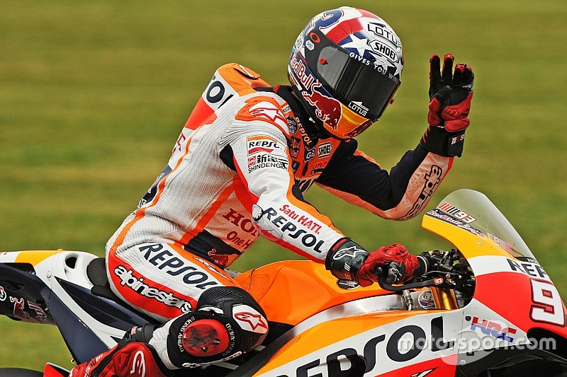 Indy MotoGP: Marquez scorches to pole, Rossi down in eighth