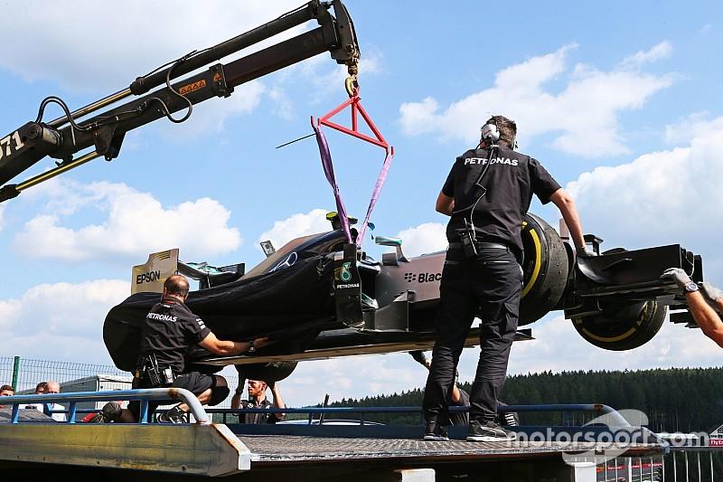 Spa, Libere 2: guizzo di Rosberg, poi la gomma ko!