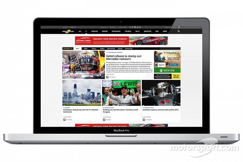 Motorsport.com startet neue Version seiner Onlineplattform