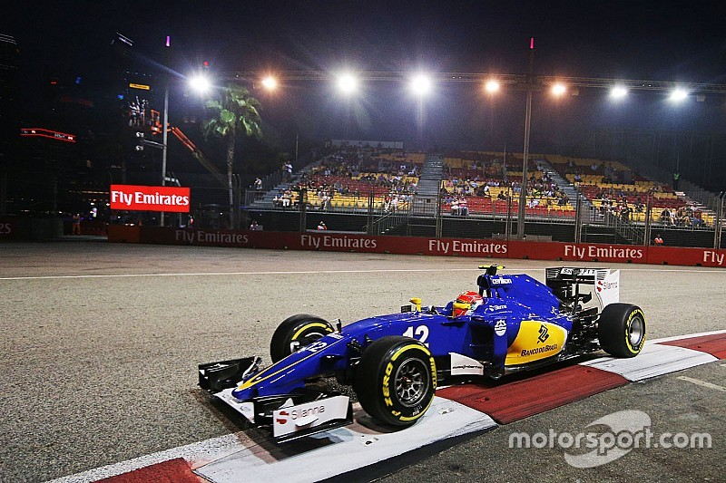 Nasr handed reprimand for track limits breach