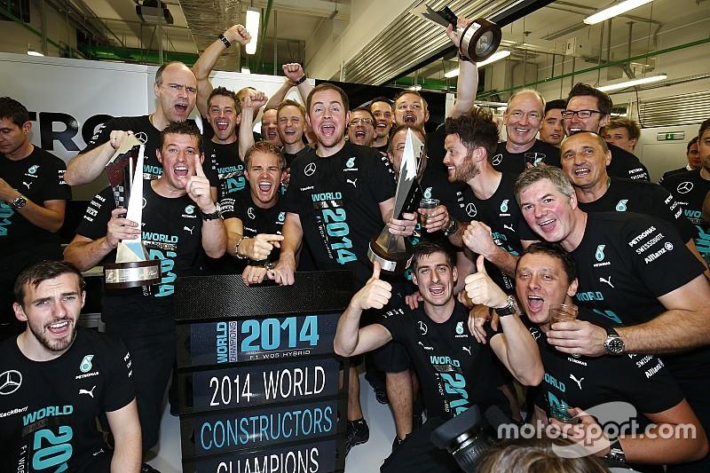 Mercedes perdió 76.9 millones de libras para ser campeón en 2014