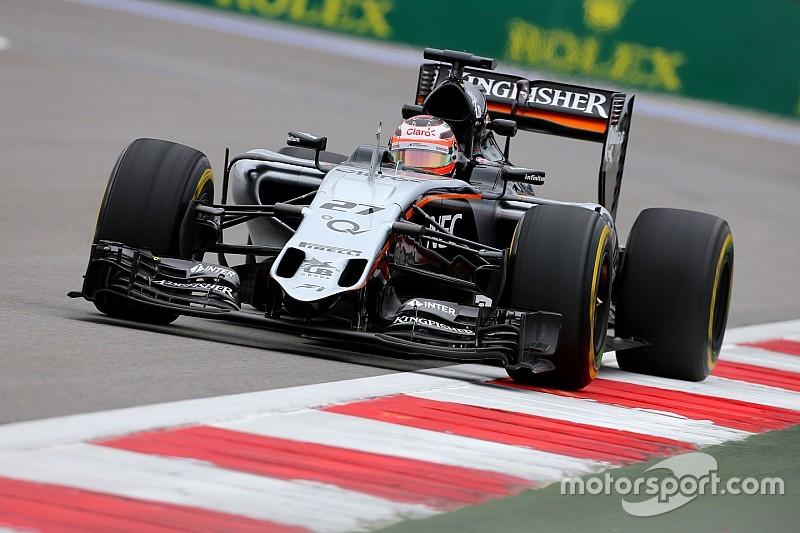 Russian GP: Hulkenberg tops FP1 as diesel spill curtails running