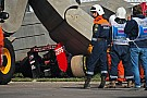 Training stilgelegd na zware crash Carlos Sainz