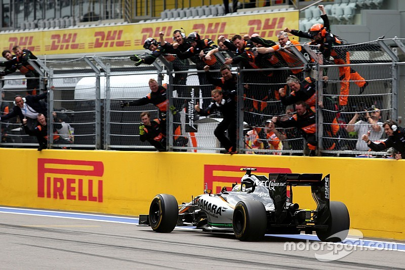 "Perez hails ""great"" form after podium finish"