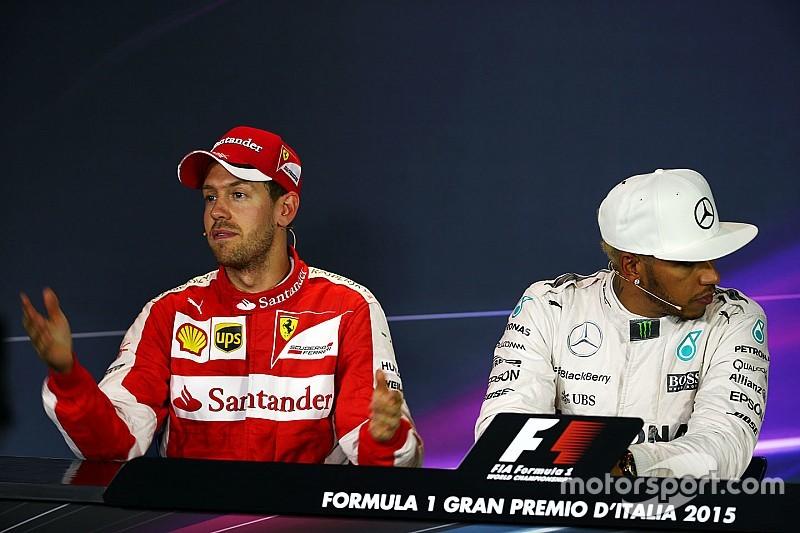 Hamilton vs Vettel: Podium klaar voor epische strijd - dus waar blijft het?