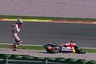 Test Valencia: Marquez cade subito alla curva 3