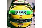 Lewis Hamilton omaggia Senna con un casco nuovo