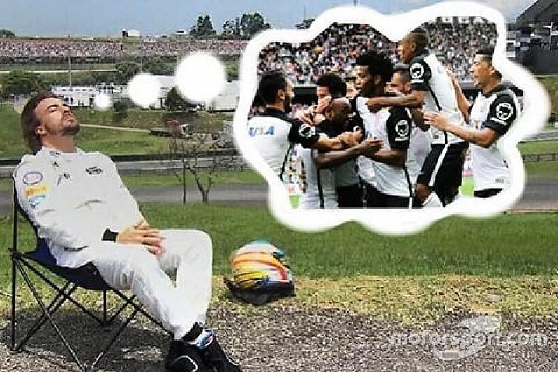 Corinthians entra na onda e faz brincadeira com Fernando Alonso