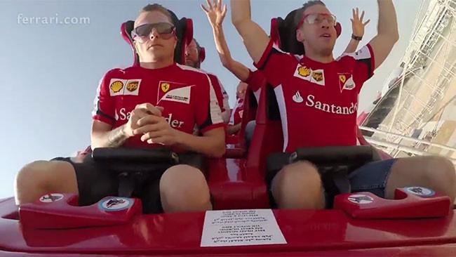 """Kimi """"Iceman"""" anche sulle montagne russe Ferrari!"""