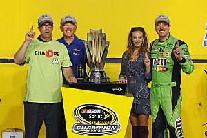 NASCAR Cup Interview Now behind the scenes, J.D. Gibbs still part of victory celebration