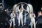 Hamilton em 3º e desfile de carros: veja a festa da Mercedes