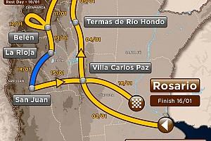 Dakar Ultime notizie Dakar, Tappa 11: start a La Rioja, arrivo a San Juan