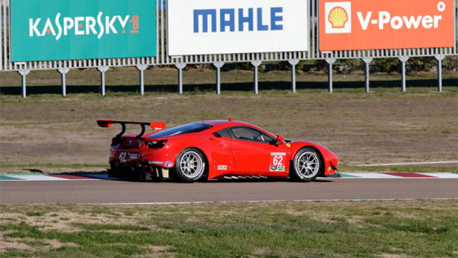 La 488 GTE di Fisico e Vilander è arrivata a Daytona