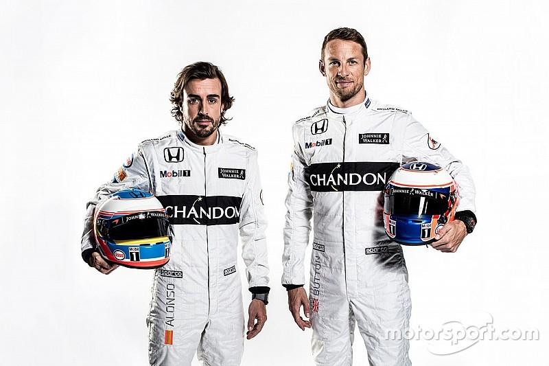 """Button: """"mais confiante"""" com novo carro da McLaren"""