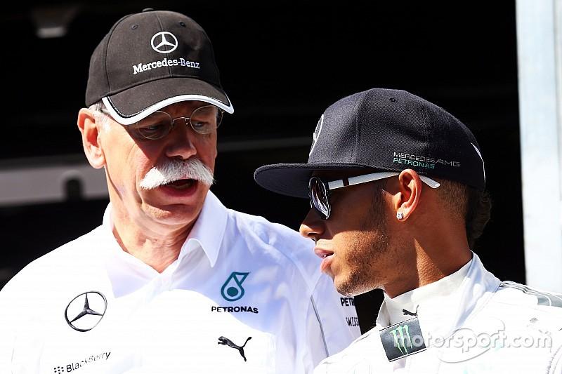 梅赛德斯对伯尼公开自我批评F1表示不满