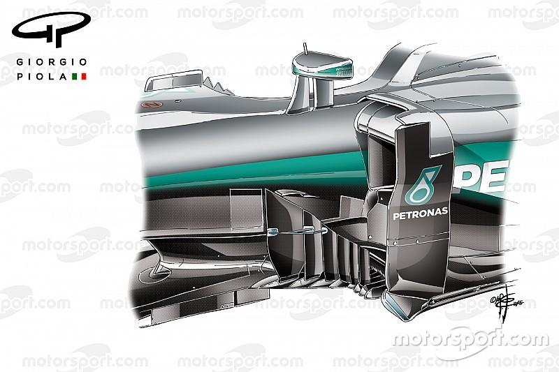 """Mercedes: l'aerodinamica va alla ricerca della """"minigonna pneumatica""""?"""