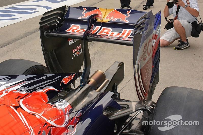 Toro Rosso:  sul flap dell'ala mobile ci sono due incurvature