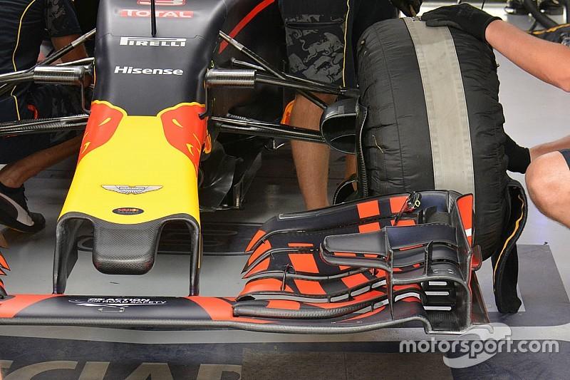 La Red Bull con una nuova anteriore dentellata