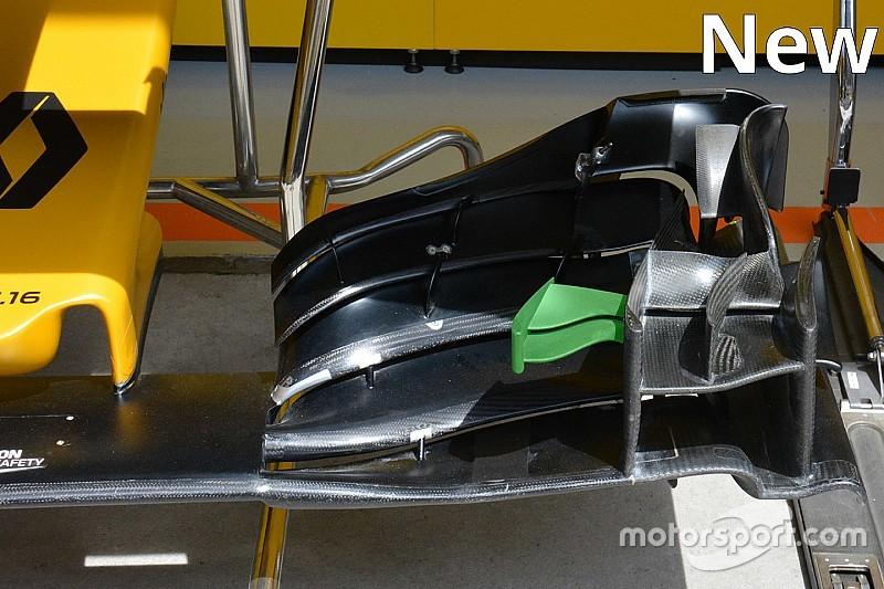 Renault: modificata l'ala anteriore sulla R.S.16