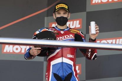 Alvaro Bautista in Jerez auf dem Podest: Honda hat eine Basis gefunden