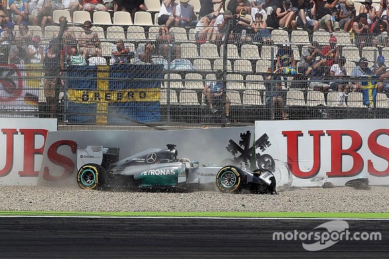 """Hamilton: """"Gevaar is deel van de charme van de Formule 1"""""""