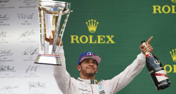 Ve ABD GP'yi Kazanan Hamilton 2015 F1 Şampiyonu
